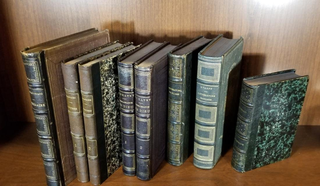 Decorative French Leather Bound Books (7) - 2