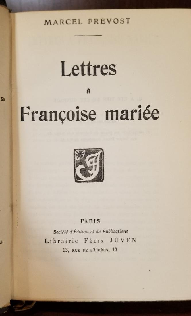 Decorative French Leather Bound Books (8) - 4