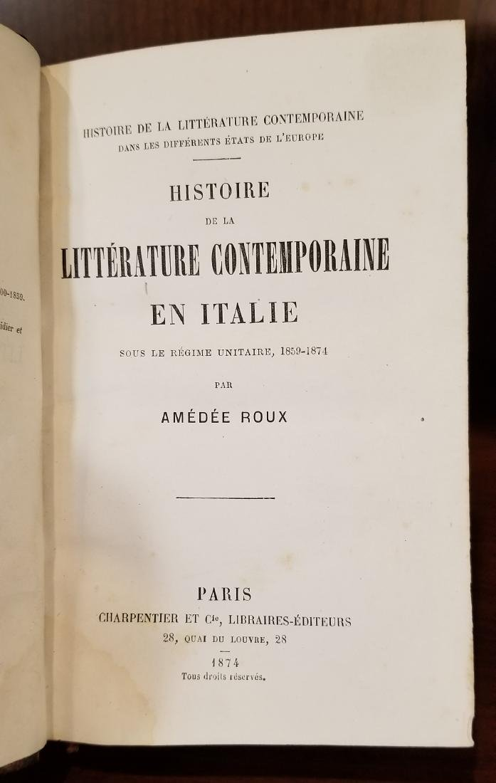 Decorative French Leather Bound Books (8) - 7
