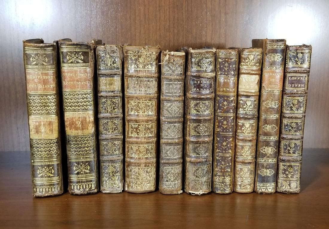 Early Leather Bound Books (10)