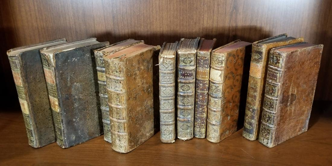 Early Leather Bound Books (10) - 2