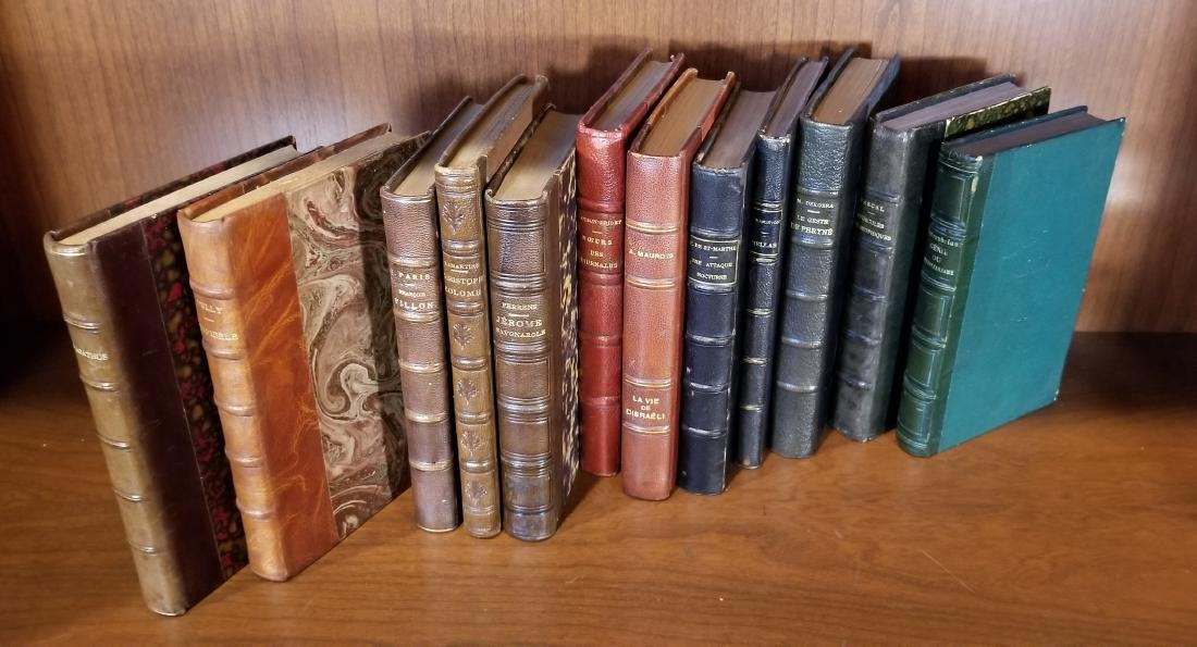 Decorative French Leather Bound Books (12) - 2