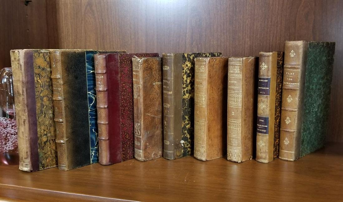 Decorative French Leather Bound Books (9) - 2