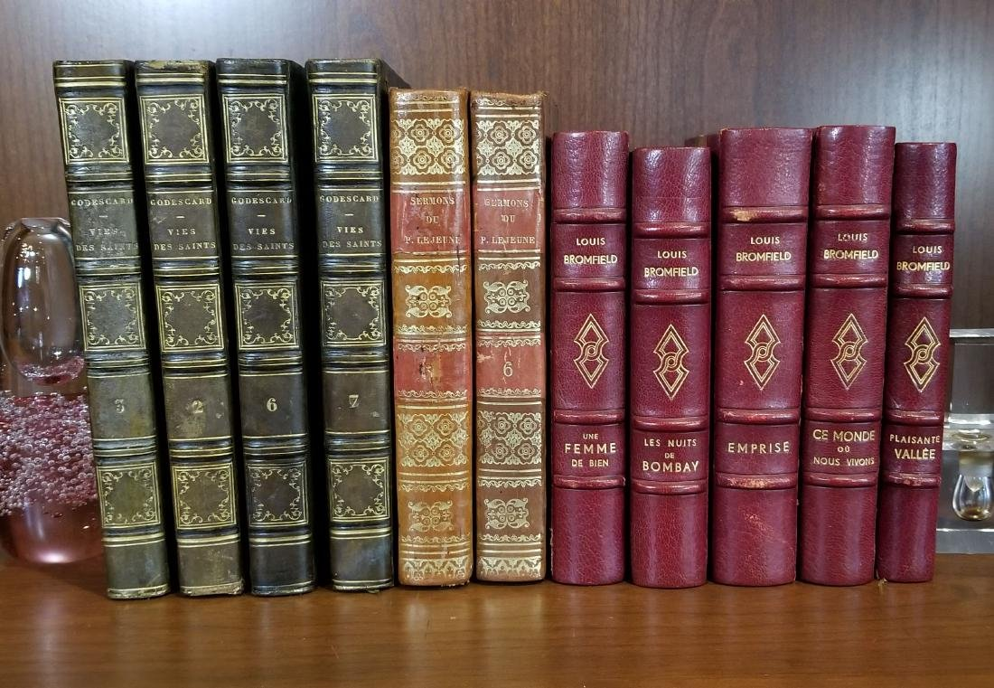 Decorative French Leather Bound Books (11)