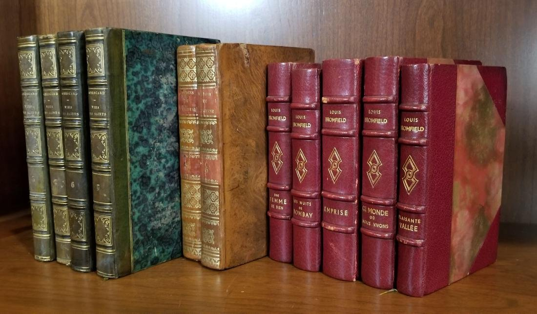 Decorative French Leather Bound Books (11) - 2