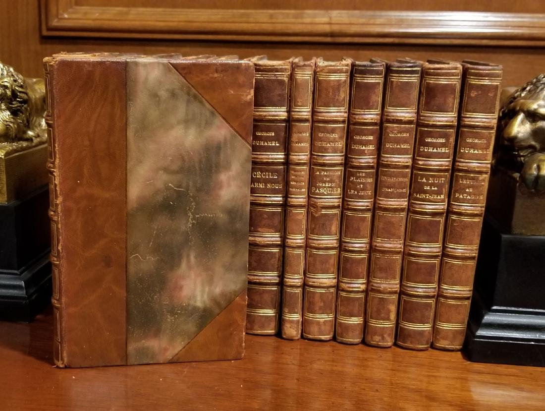 Decorative French Leather Bound Books (13) - 2