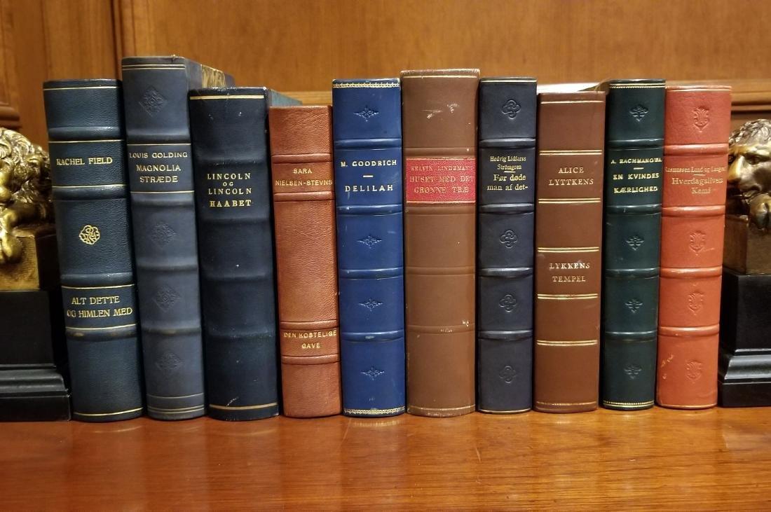 Decorative Leather Bound Books (10)