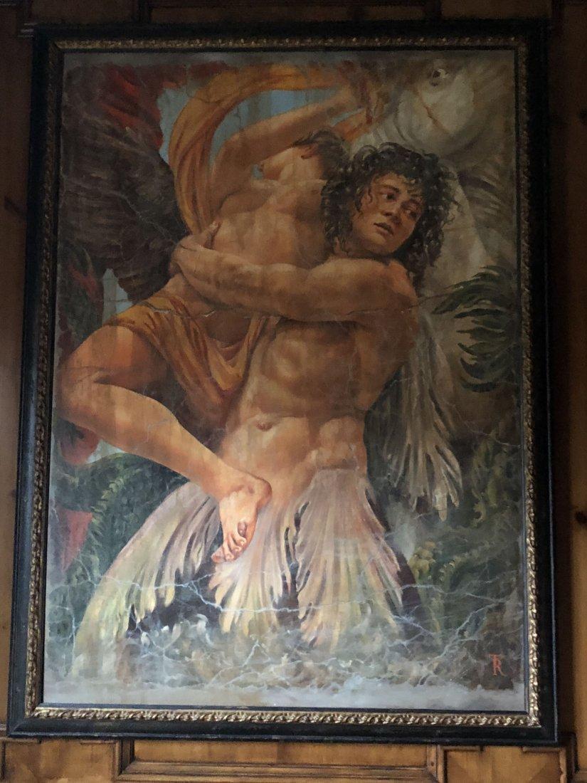 Mythological Winged Figures. Oil on canvas - 3