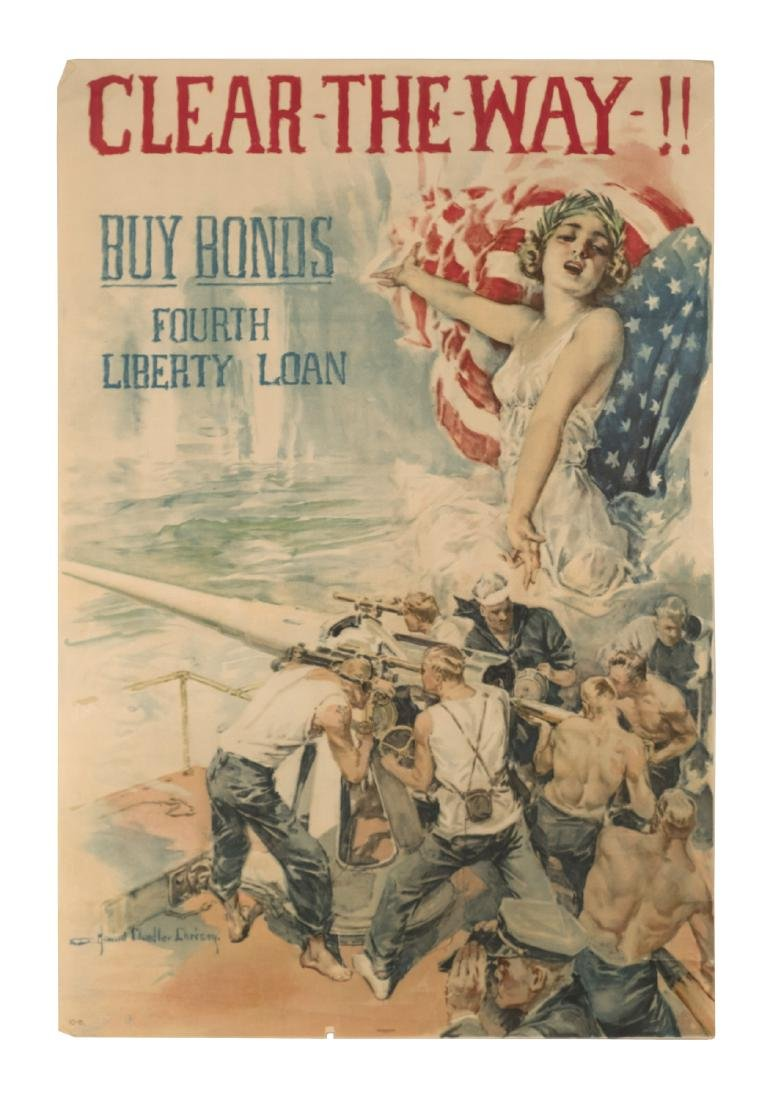"""""""Clear the Way"""" World War I Poster"""