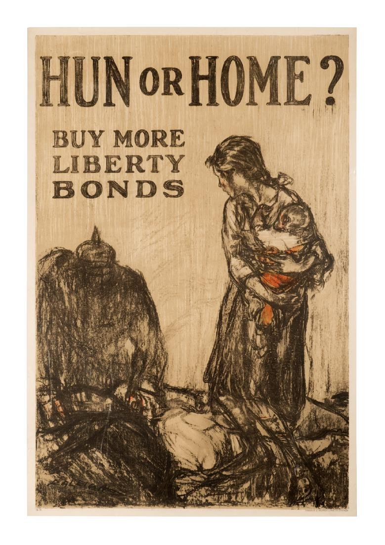 """Hun or Home?"" World War I Poster"