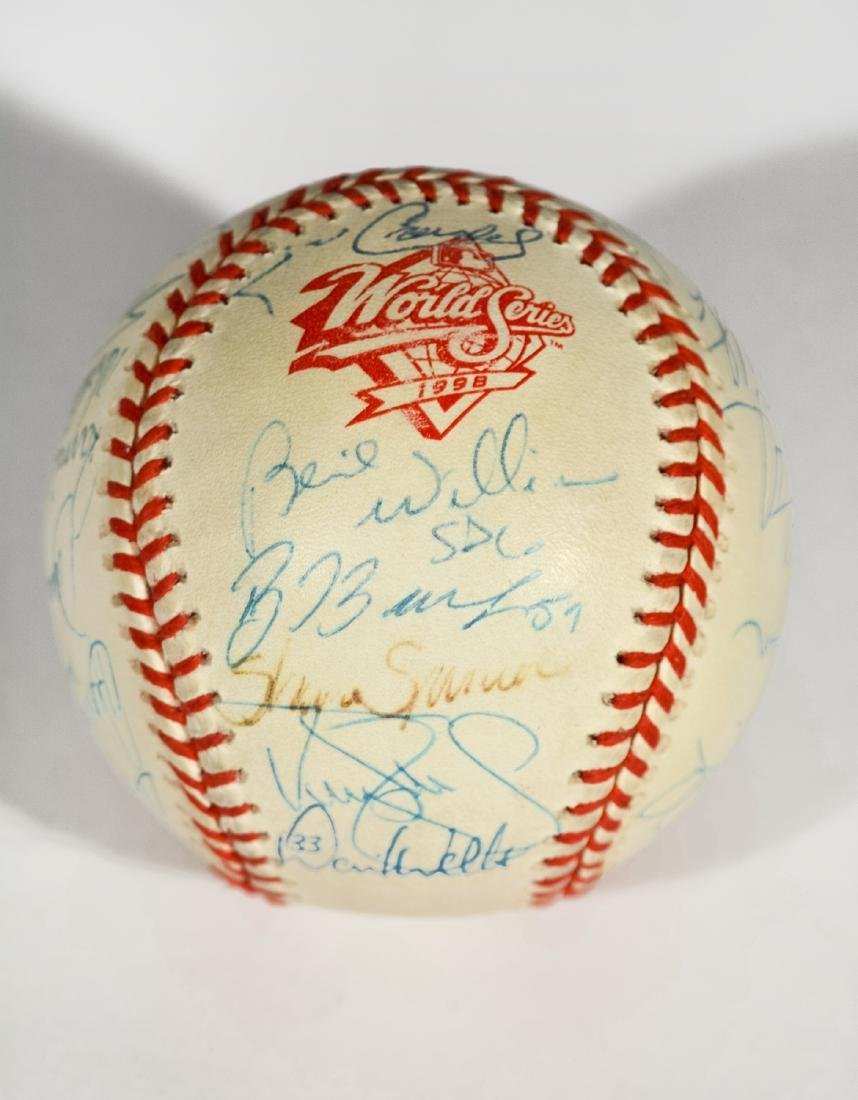 1998 Yankee World Series Team-Signed Baseball