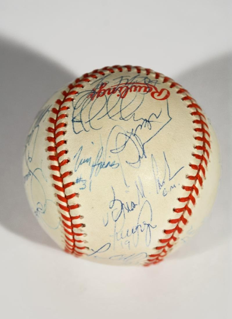 1998 Yankee World Series Team-Signed Baseball - 2