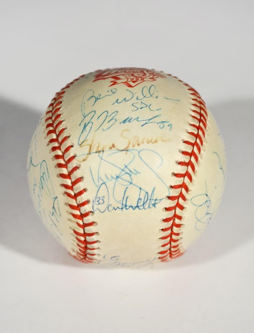 1998 Yankee World Series Team-Signed Baseball - 3