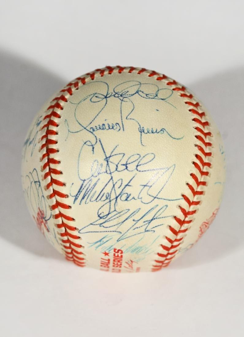 1998 Yankee World Series Team-Signed Baseball - 4