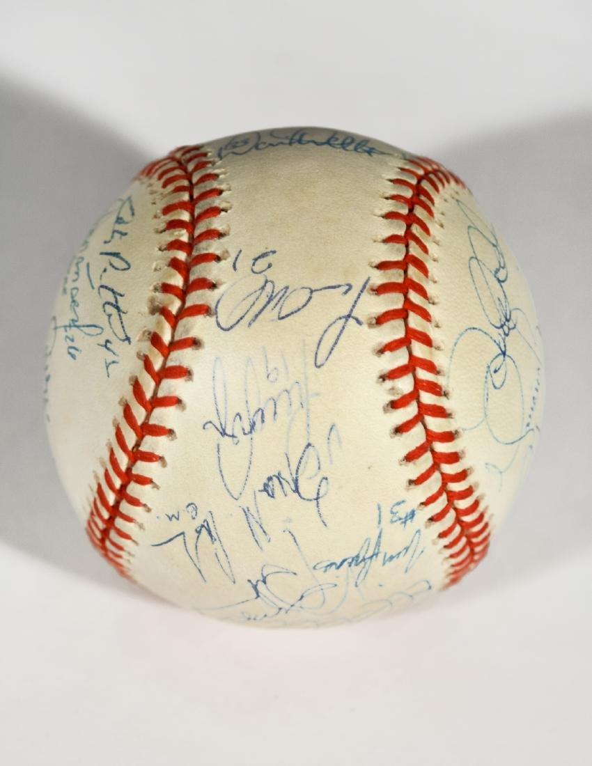 1998 Yankee World Series Team-Signed Baseball - 5