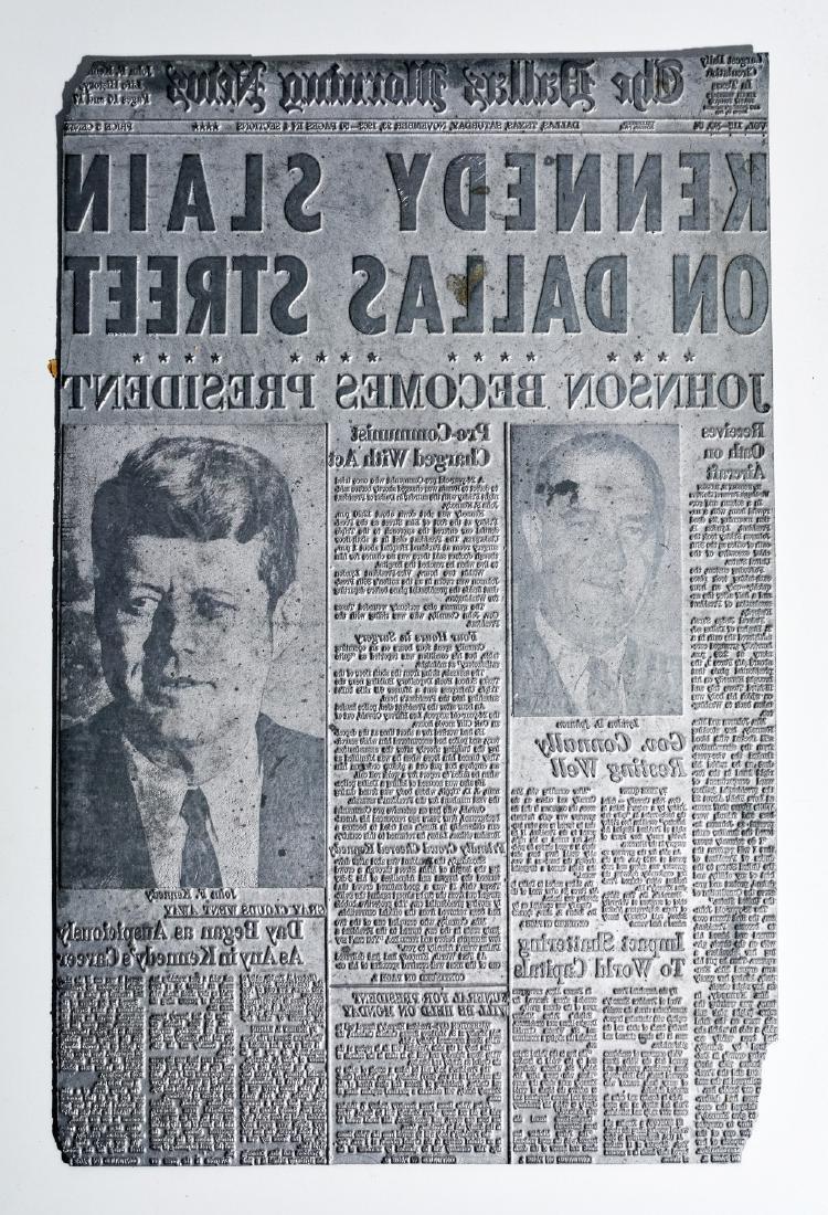 Original Image Plate of The Dallas Morning News JFK
