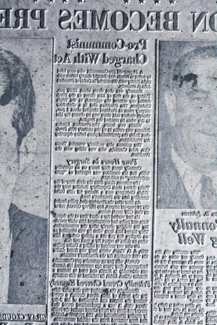 Original Image Plate of The Dallas Morning News JFK - 2