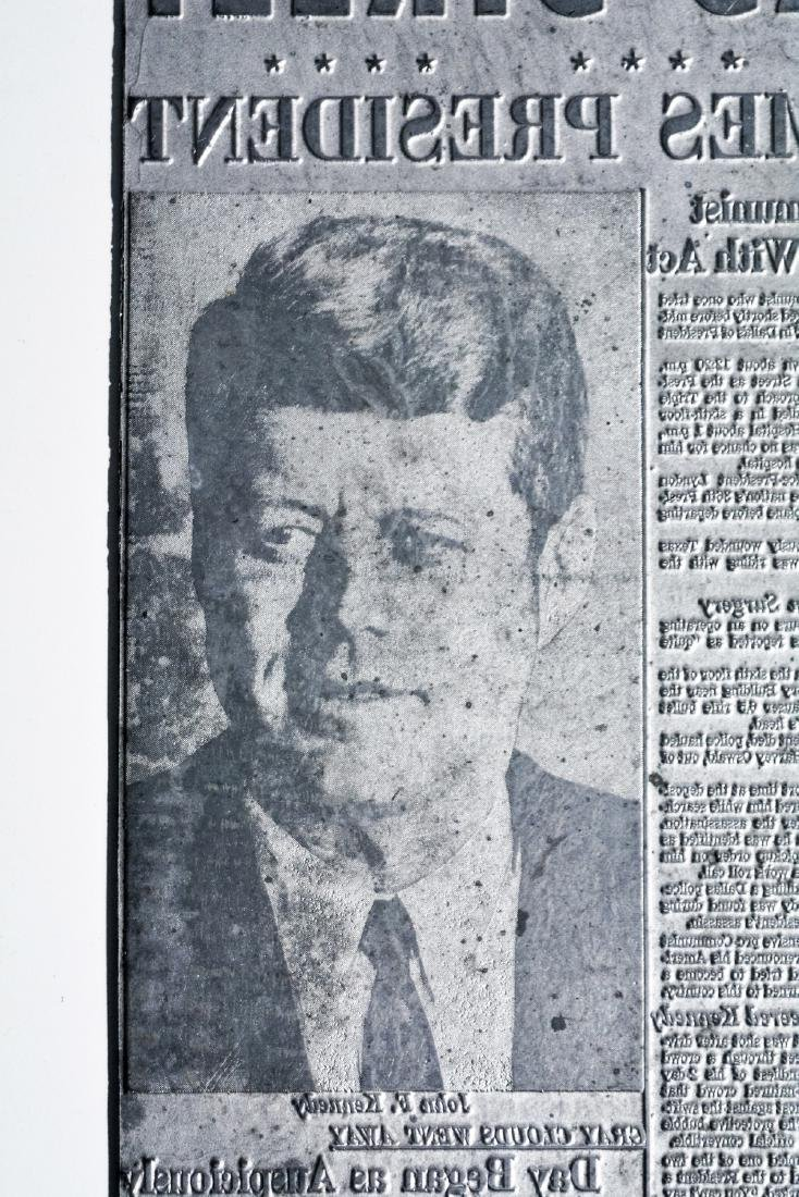 Original Image Plate of The Dallas Morning News JFK - 3
