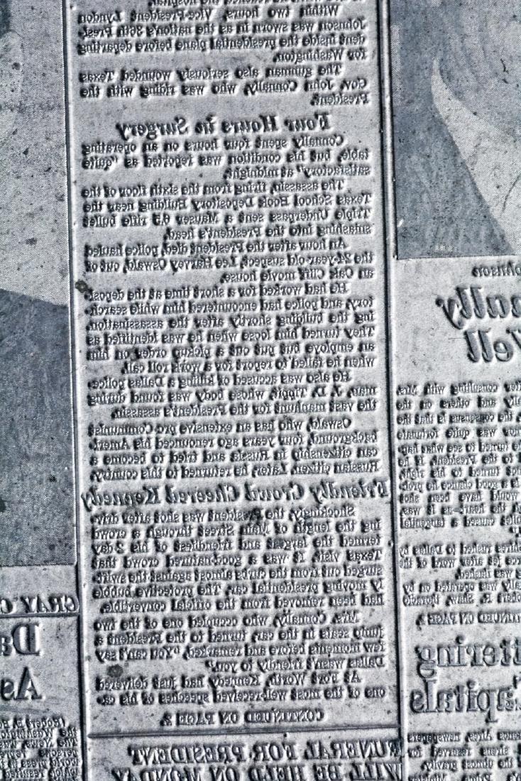 Original Image Plate of The Dallas Morning News JFK - 4