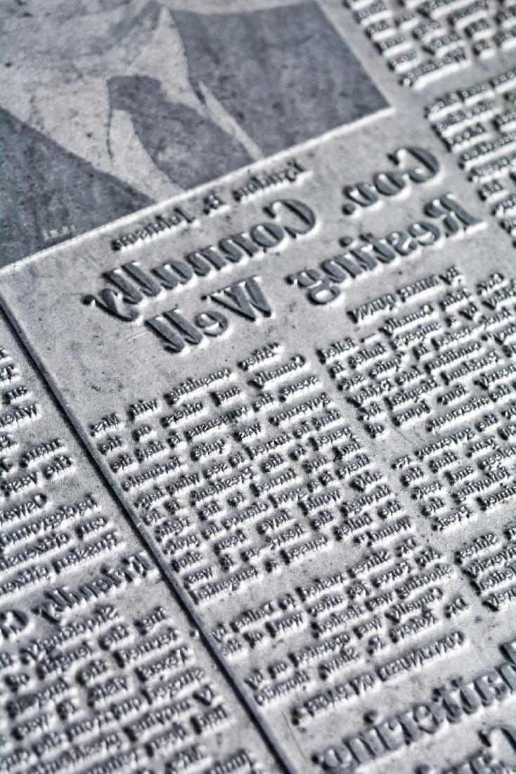 Original Image Plate of The Dallas Morning News JFK - 5