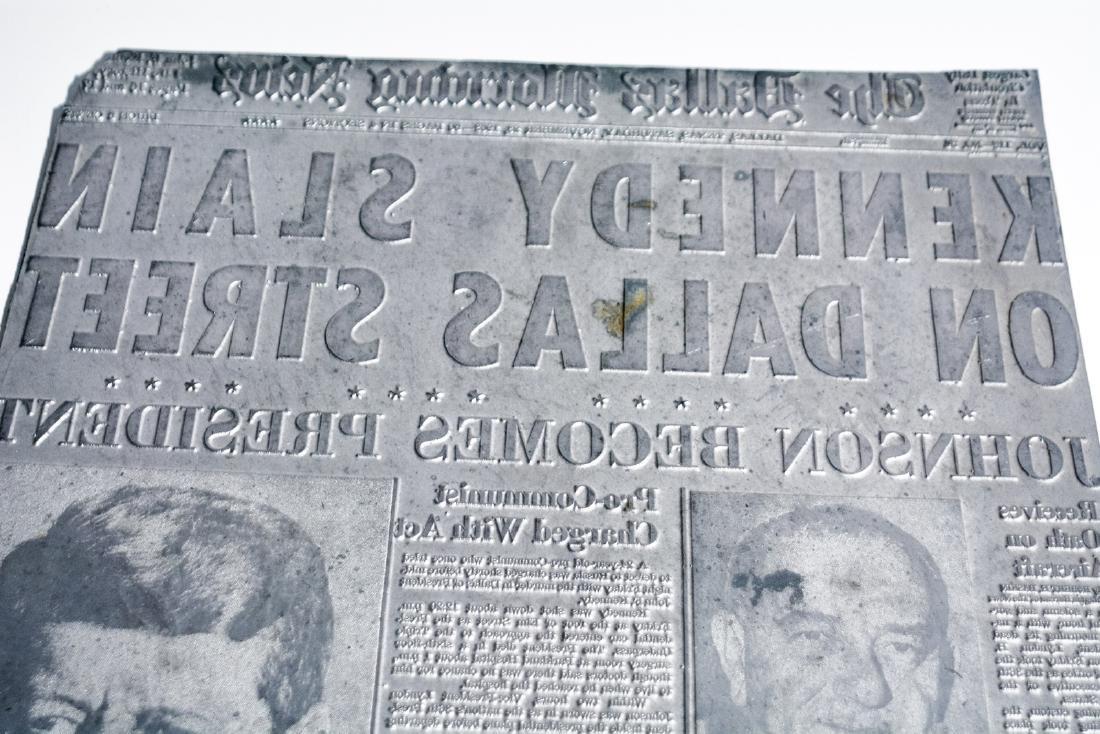 Original Image Plate of The Dallas Morning News JFK - 7