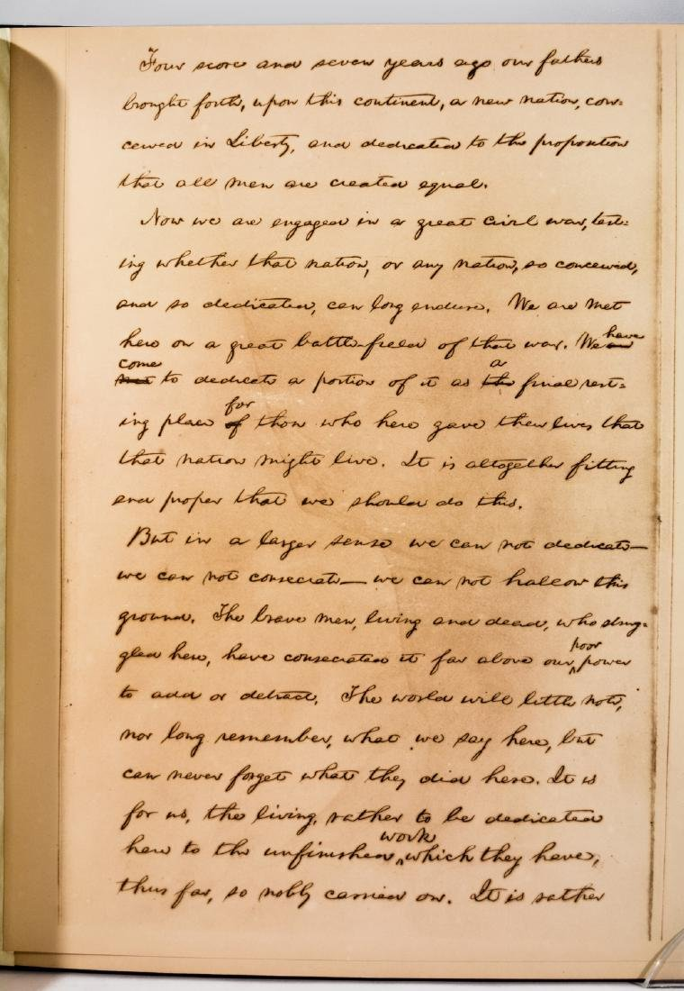 Lincoln's Gettysburg Address, Hay Manuscript - 5