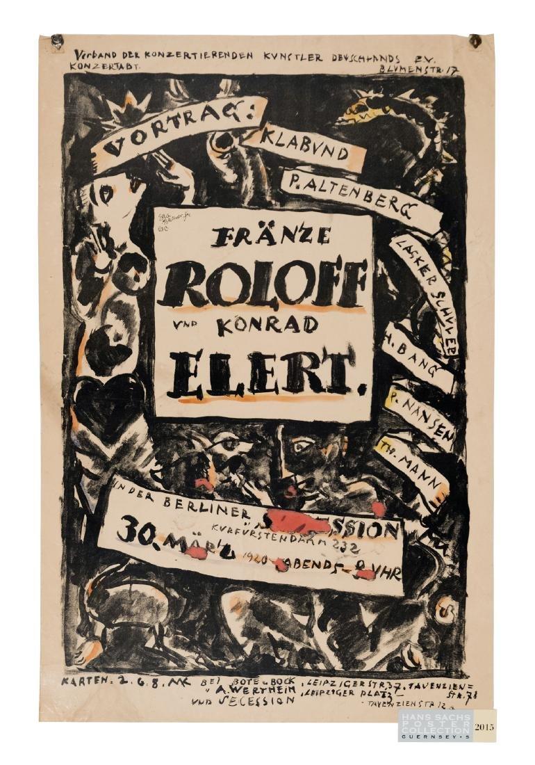 Roloff / Elert Poster