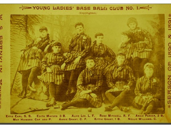 371: G2 - CABINET CARD OF YOUNG LADIES BASEBALL CLUB