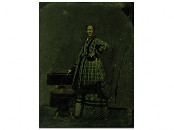 385: G16 - TINTYPE OF A FORMER SLAVE