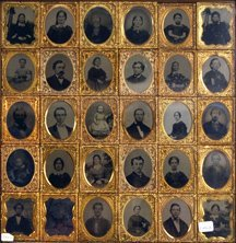 1523: D617 - THIRTY DAGUERREOTYPES IN A FRAME