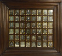 1524: D618 - FORTY-EIGHT DAGUERREOTYPES IN A FRAME