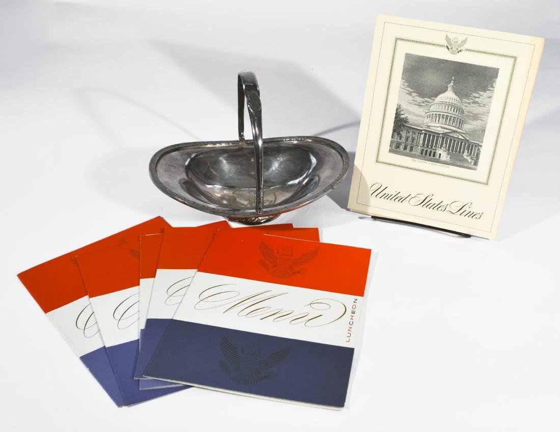 SS United States Silver Bowl and Menus