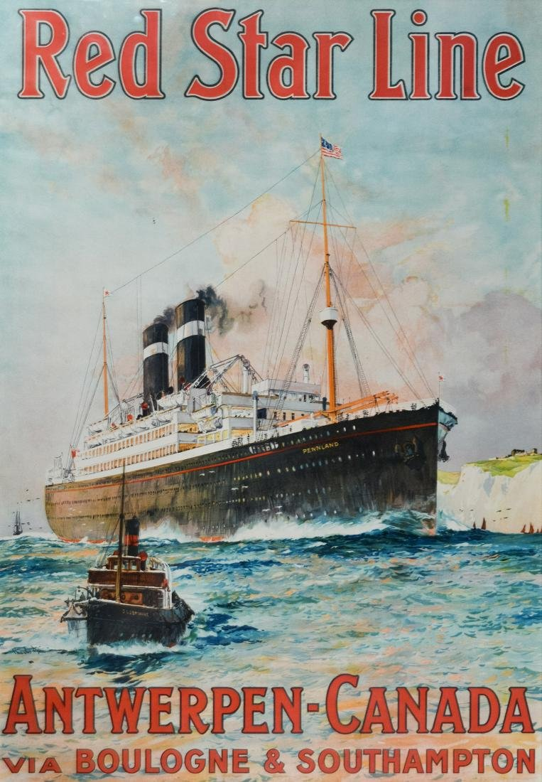 Red Star Line Pennland Poster