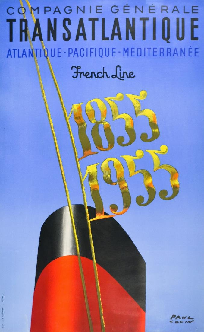 French Line Lithograph Poster