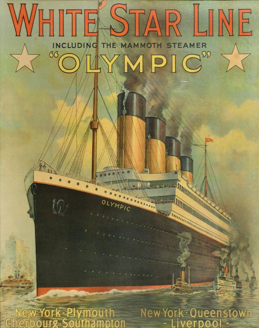 Olympic White Star Line Poster
