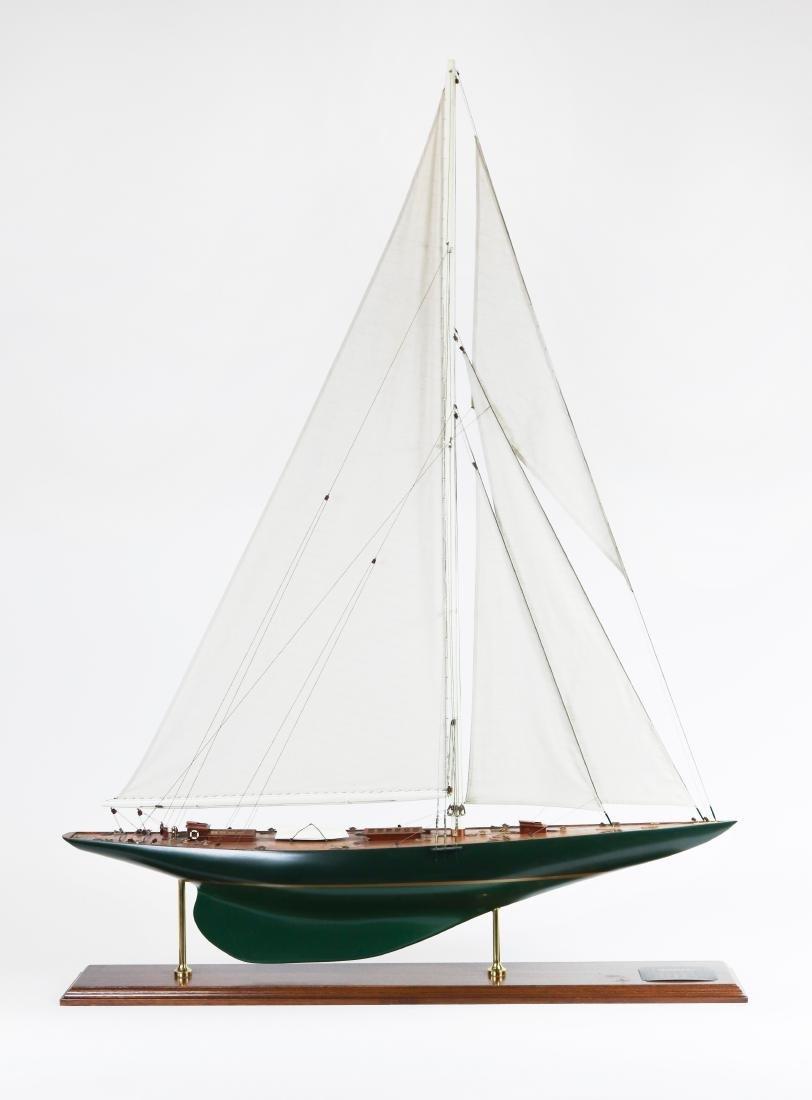 """J-Class Yacht """"Shamrock V"""" Model"""