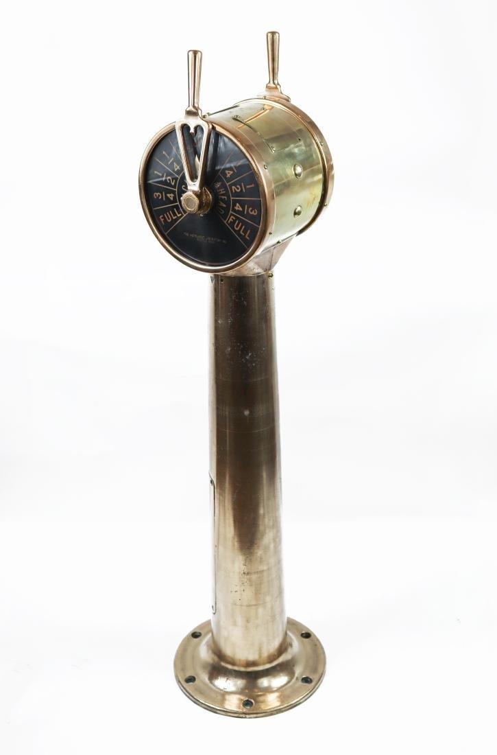 Solid Brass Engine Order Telegraph