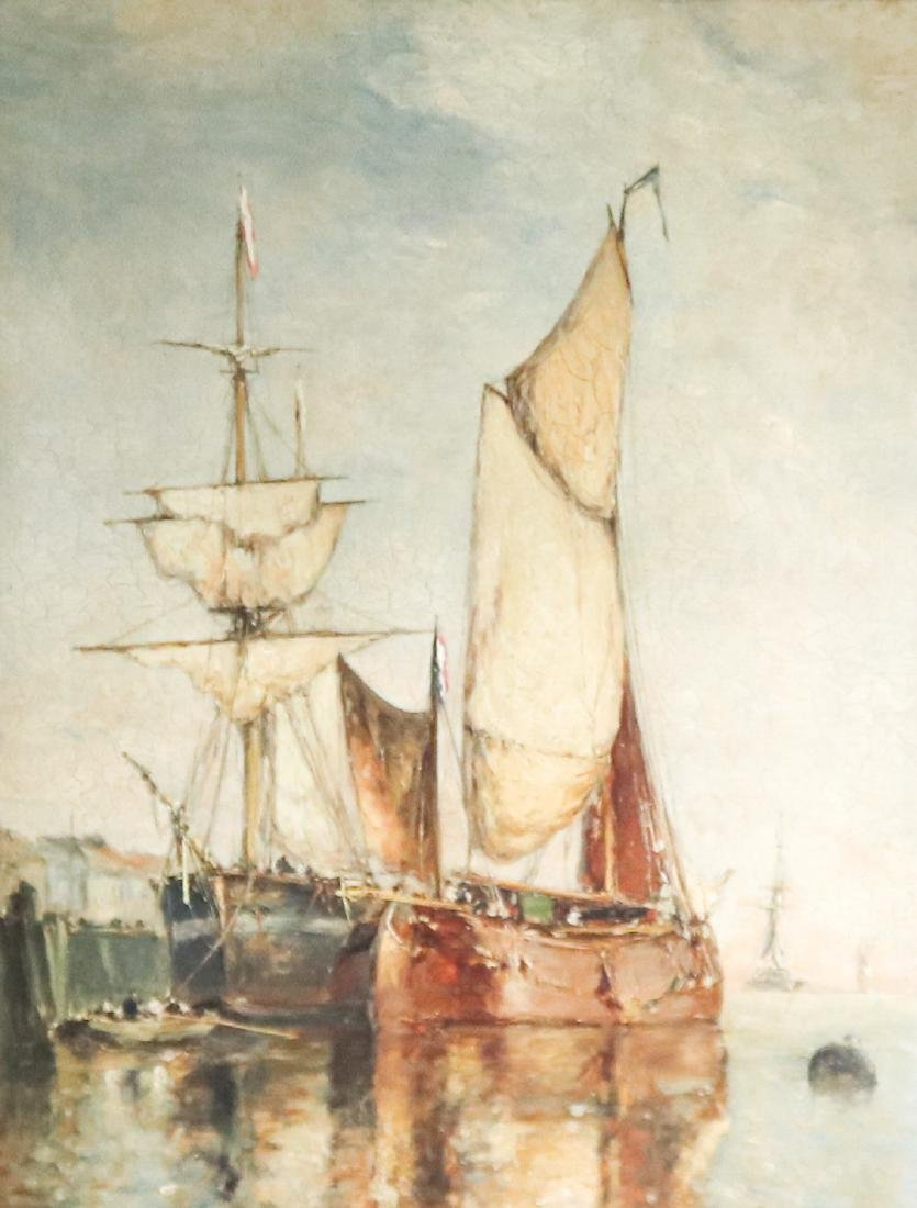 Paul Jean Clays Oil Painting, Owned by J.P. Morgan