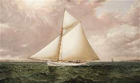 James E. Buttersworth, A Gaff Rigged Racing