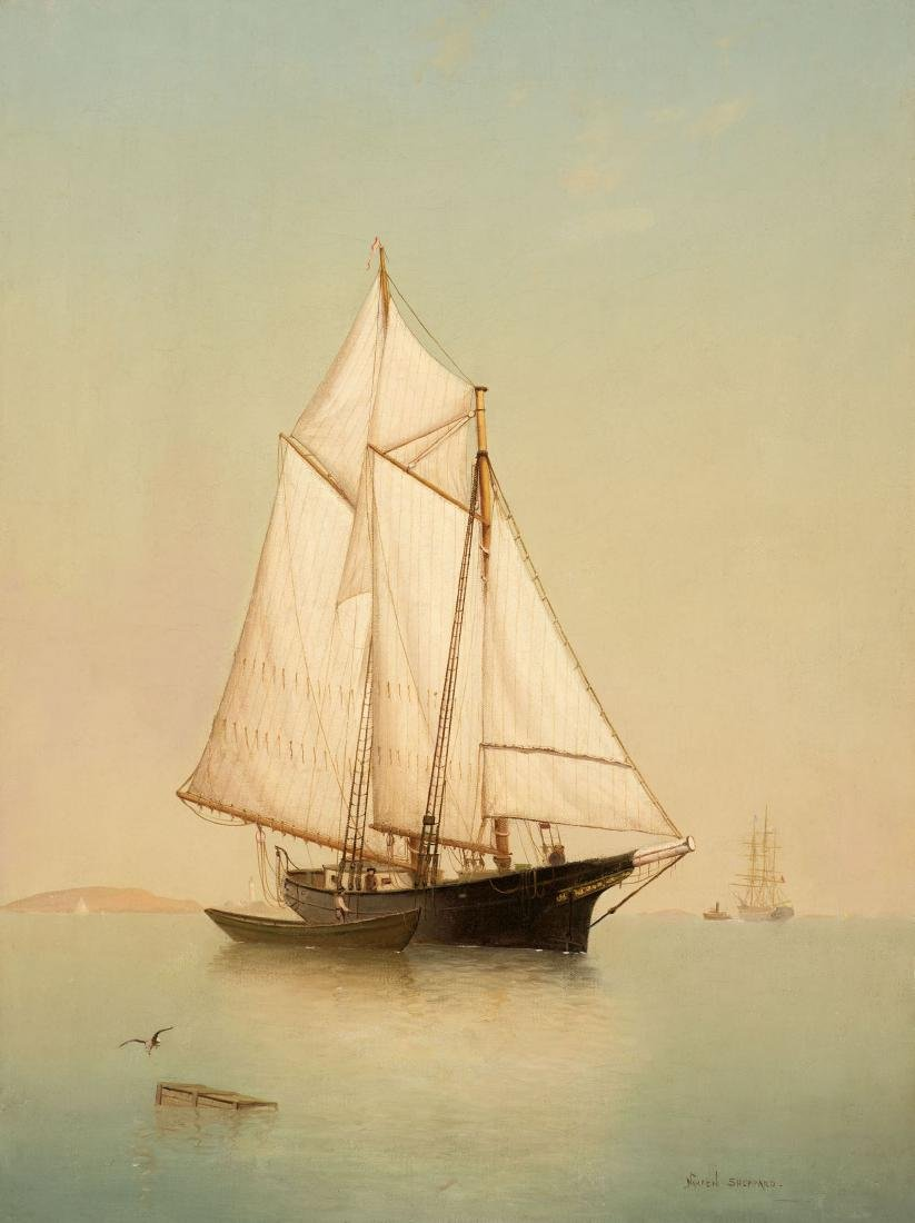 Warren Sheppard - Schooner off Ten Pound Island