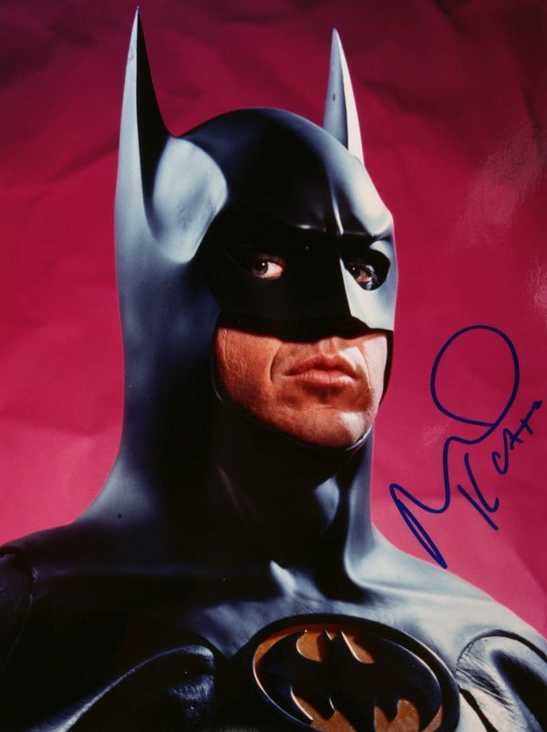 Michael Keaton Signed Photo As Batman