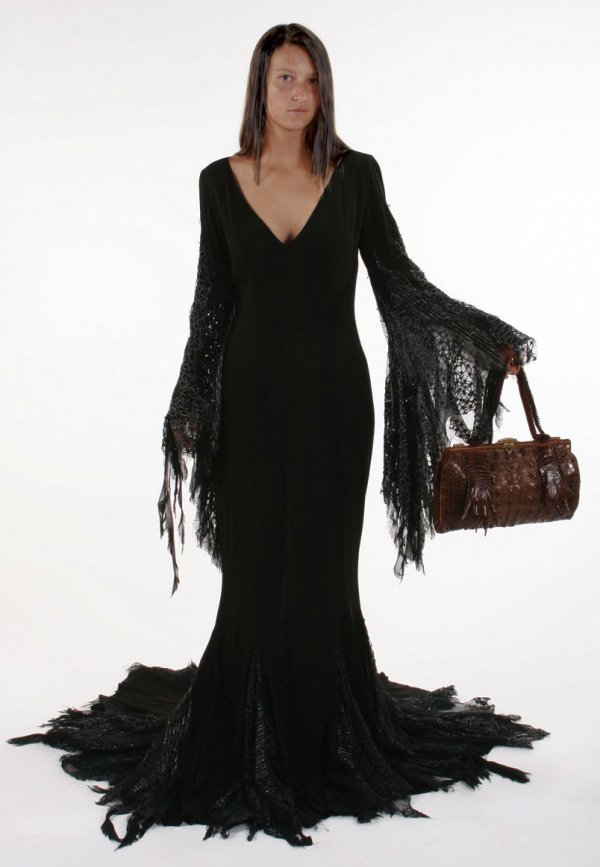 "Angelica Huston ""Addams Family Values"" Dress"