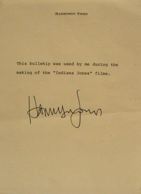 "Harrison Ford ""Indiana Jones"" Bullwhip - 2"