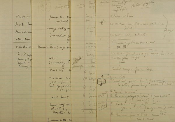Senator John F. Kennedy Notes