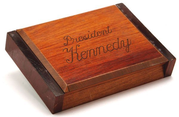 JFK Inscribed Wooden Humidor