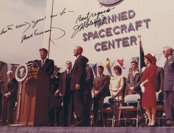 Signed Photos Related To The JFK Space Program