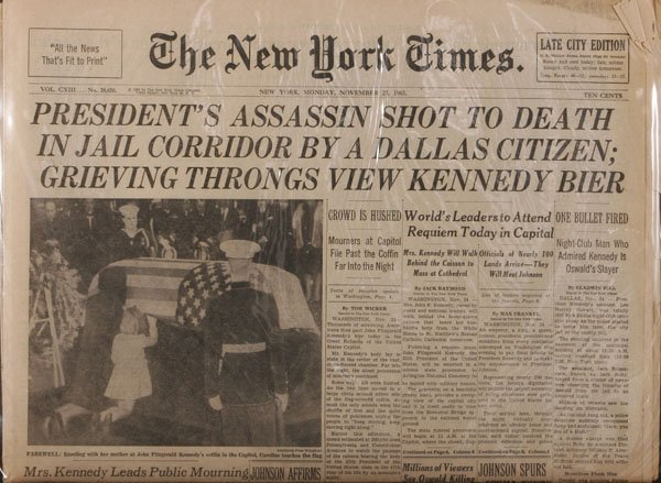 November 25, 1963 New York Times