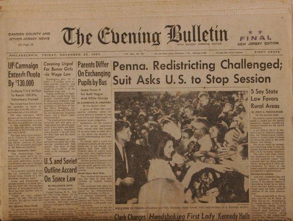 Philadelphia JFK Assassination Newspapers