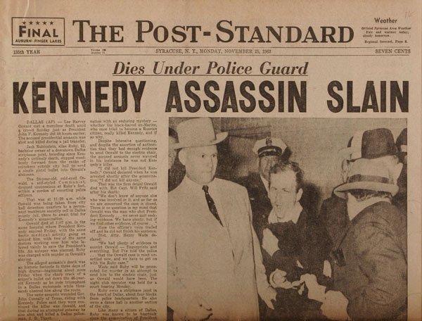 Six JFK Assassination Newspapers