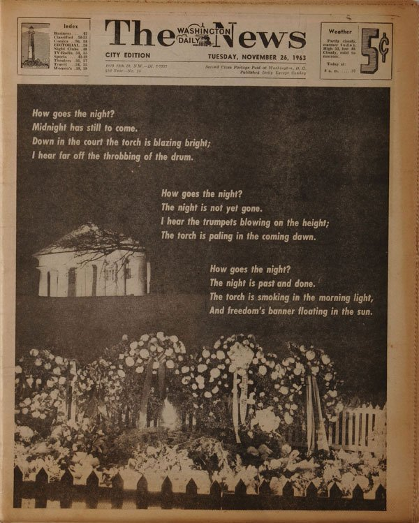 Five Kennedy Related American Newspapers